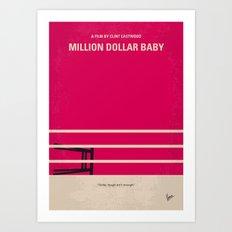 No613 My Million Dollar Baby minimal movie poster Art Print