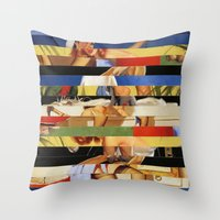 Glitch Pin-Up Redux: Jessica Throw Pillow