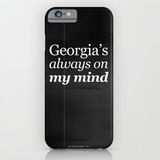 Georgia's always on my mind iPhone & iPod Case