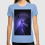 Electric Purple Sapporo Womens Fitted Tee Tri-Blue SMALL