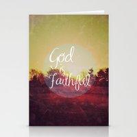 God Is Faithful Stationery Cards