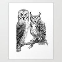 Bubo And Strix Art Print