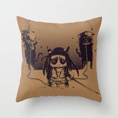 Walking grump Throw Pillow