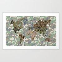 CAMO WORLD ATLAS MAP (CAMO) Art Print