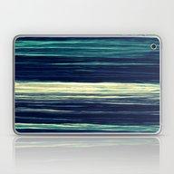 Blue Teal Texture Stripe… Laptop & iPad Skin