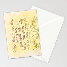I love thee, I love thee - ROMEO & JULIET - SHAKESPEARE LOVE QUOTE Stationery Cards