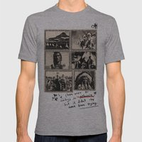 feel the life of Red Indian #2 Mens Fitted Tee Athletic Grey SMALL