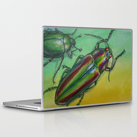 Shinny Beetle Laptop & iPad Skin