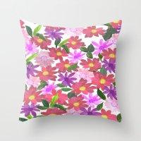 Flower Design Throw Pillow