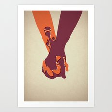 When Two Become One - Ha… Art Print