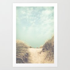 The Way To The Beach Art Print