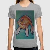 Fish Womens Fitted Tee Athletic Grey SMALL