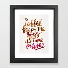 Coffee & Wine – Brown … Framed Art Print