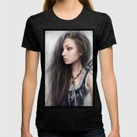 Defiance Womens Fitted Tee Tri-Black SMALL