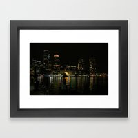Harborwalk Night  Framed Art Print