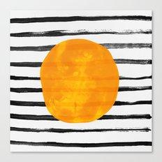 Dot / Yellow Canvas Print