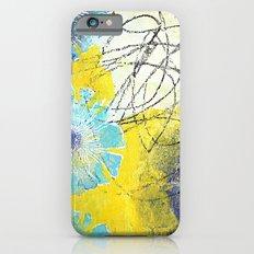 Blue Flowers iPhone 6 Slim Case