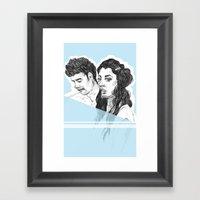 Pale Blue Framed Art Print