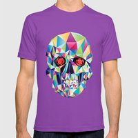 Geometric Candy Skull Mens Fitted Tee Ultraviolet SMALL