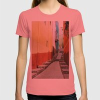 Guanajuato Womens Fitted Tee Pomegranate SMALL