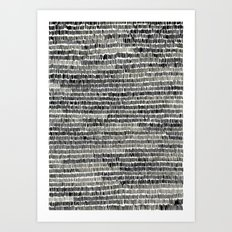 Watercolour Lines Art Print