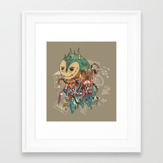 The Doodler Framed Art Print