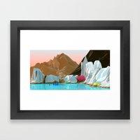 Ice gem Framed Art Print