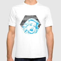 Plastic Series 1 SMALL White Mens Fitted Tee