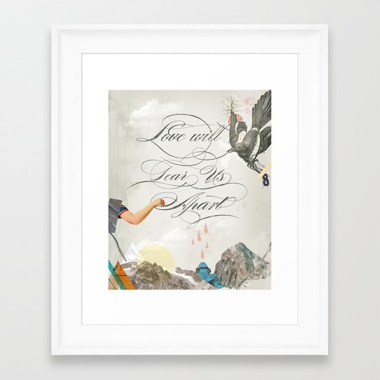 L.W.T.U.A (Love will tear us apart) Framed Art Print