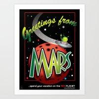 Greetings From Mars! Art Print