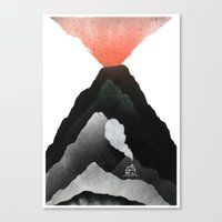 Man & Nature - The Vulcano Canvas Print
