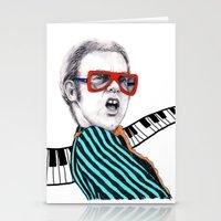 Vintage Elton - Analog Z… Stationery Cards