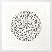 Eye Test - Orange/grey Art Print