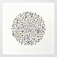 Eye Test - orange/grey Art Print