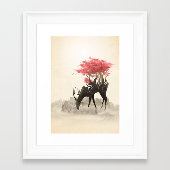 Revenge of the forest Framed Art Print