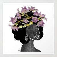 Wildflower Crown II Art Print
