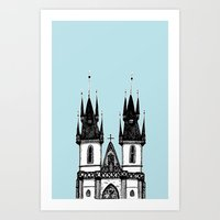 Tyn Church - Prague Art Print