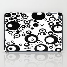 Dots in black and white iPad Case