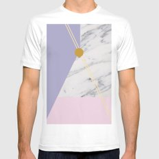 Minimal Complexity v.4 SMALL Mens Fitted Tee White
