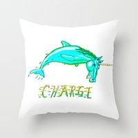 CHARGE! Throw Pillow