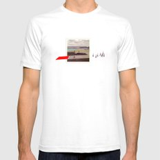 Third Pilot SMALL White Mens Fitted Tee