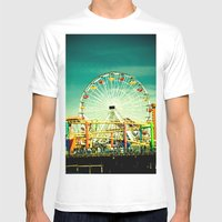 Farris Wheel  Mens Fitted Tee White SMALL