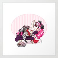 Queen Of Hearts Art Print