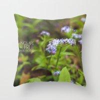 Wild + Free. Throw Pillow
