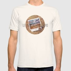 the beach Mens Fitted Tee Natural SMALL