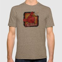 Tickles Mens Fitted Tee Tri-Coffee SMALL