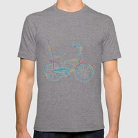 Aztec Bicycle Mens Fitted Tee Tri-Grey SMALL