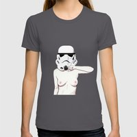 Moustachetrooper Womens Fitted Tee Asphalt SMALL