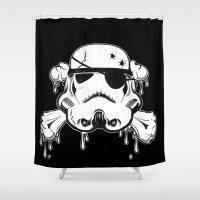 Pirate Trooper - Black Shower Curtain