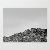 Favela B&W Canvas Print